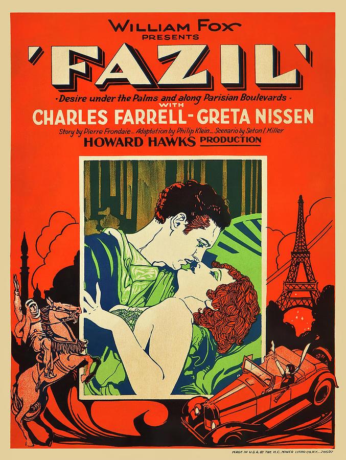 fazil, With Charles Farrell And Greta Nissen, 1928 Mixed Media