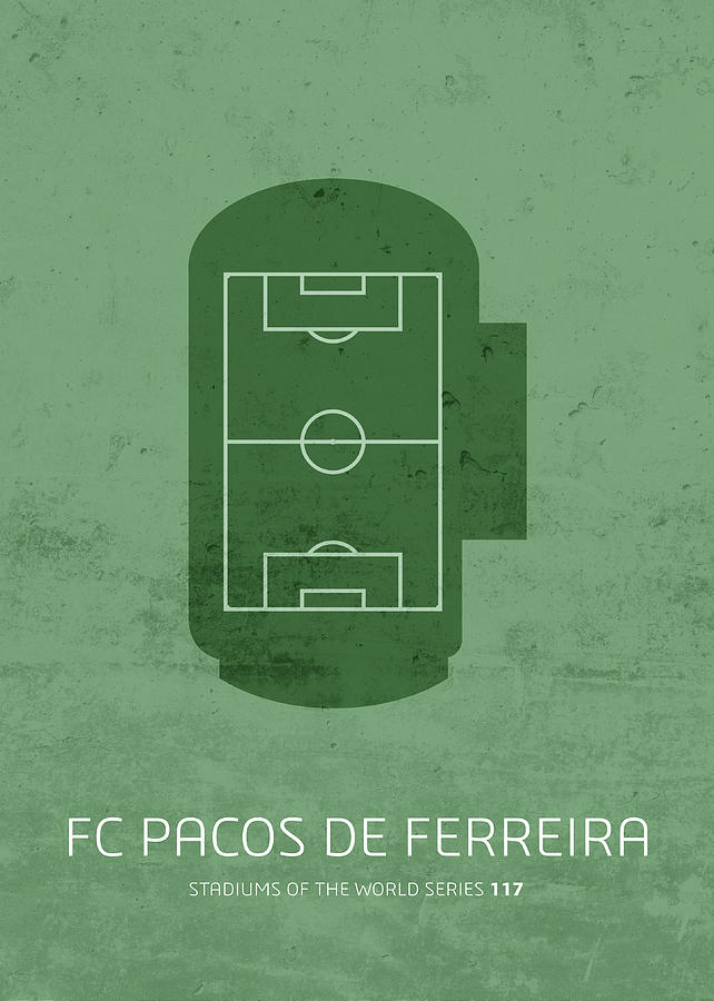 Fc Mixed Media - Fc Pacos De Ferreira Stadium Football Soccer Minimalist Series by Design Turnpike