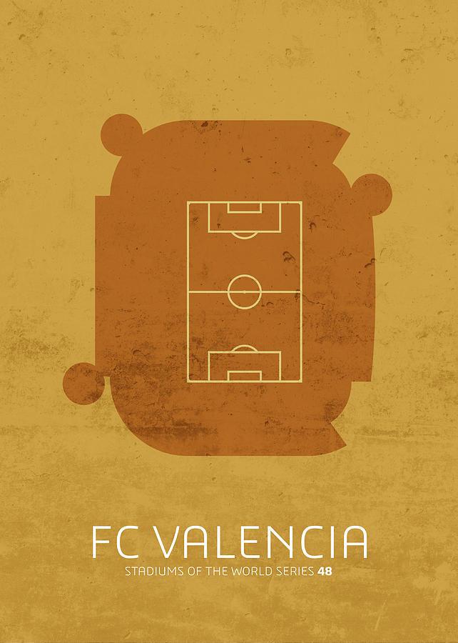 Stadium Mixed Media - Fc Valencia Stadium Football Soccer Series by Design Turnpike