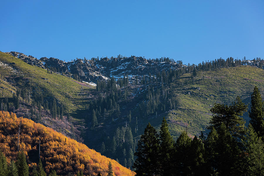 Blue Sky Photograph - Feather River Canyon Fall 2020 by John Heywood