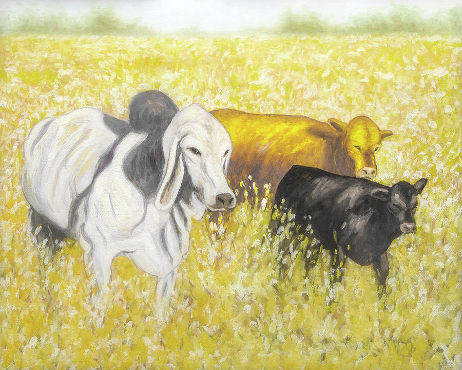 Feed Time - No 1 Painting by Rob Blauser