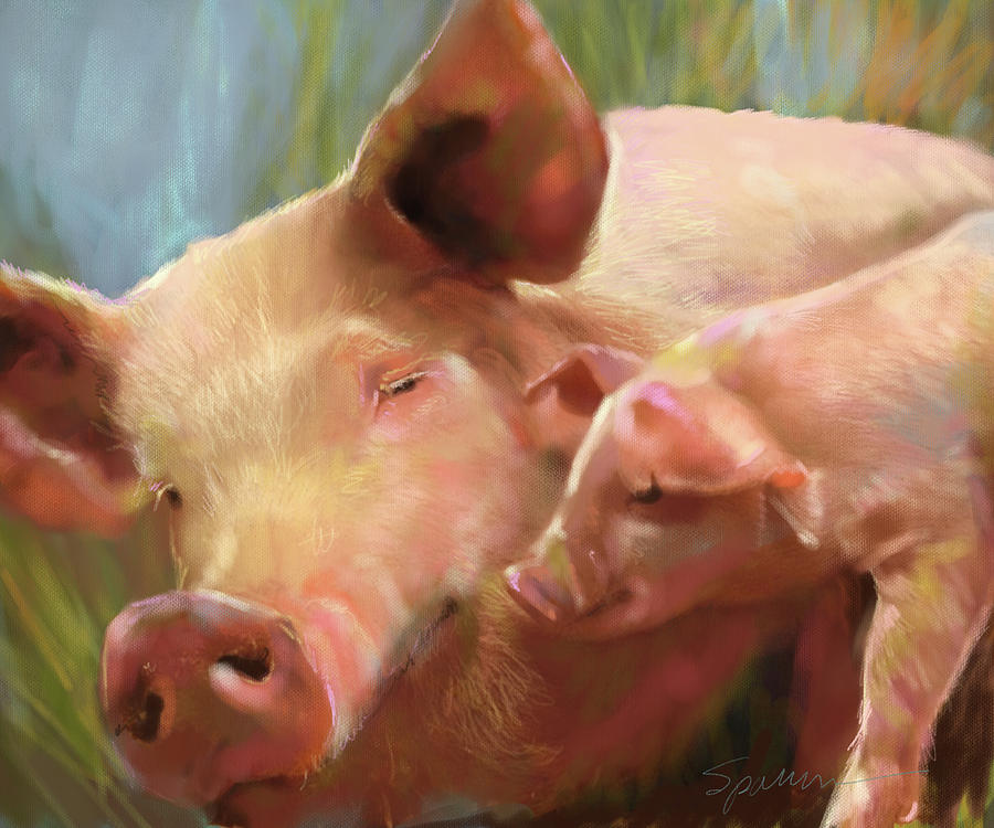 Feeling Porky Painting