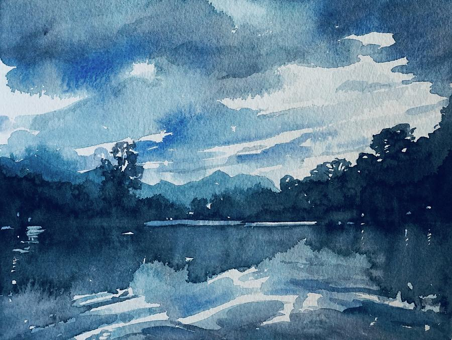 Feeling The Blues Painting