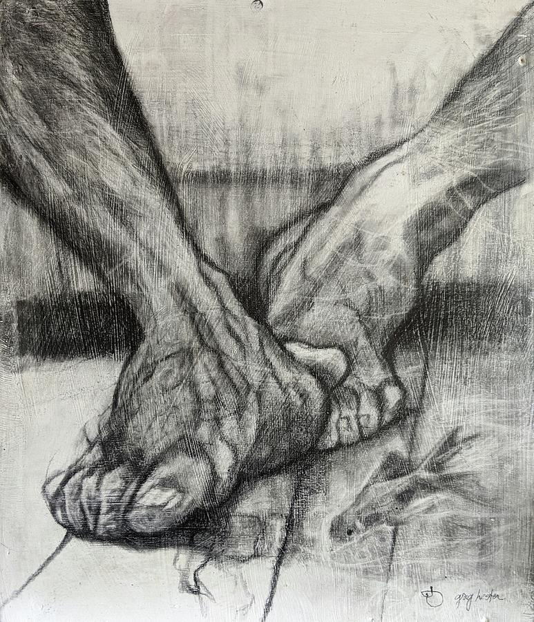 Feet With Fish Drawing