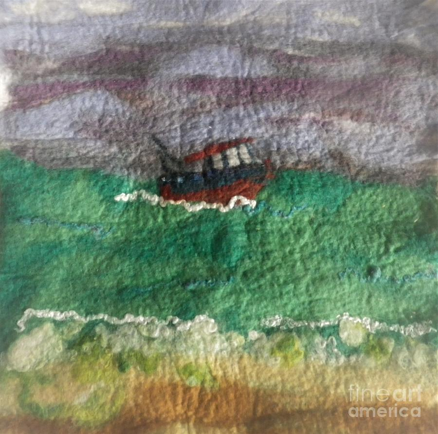 Felt Of The Sea Tapestry - Textile