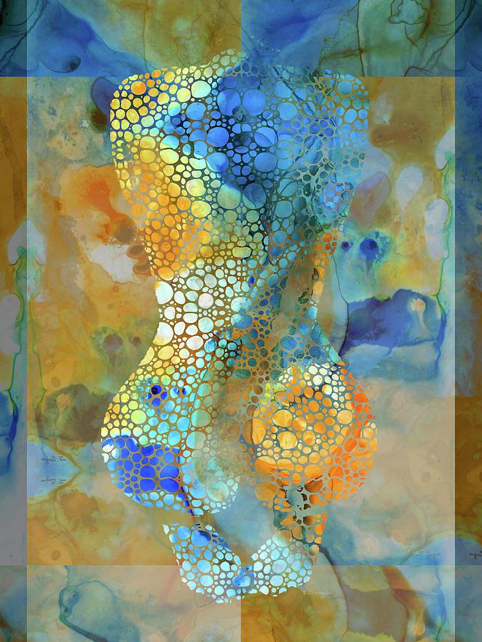 Nude Painting - Female Nude Art - Hidden Beauty - Sharon Cummings by Sharon Cummings