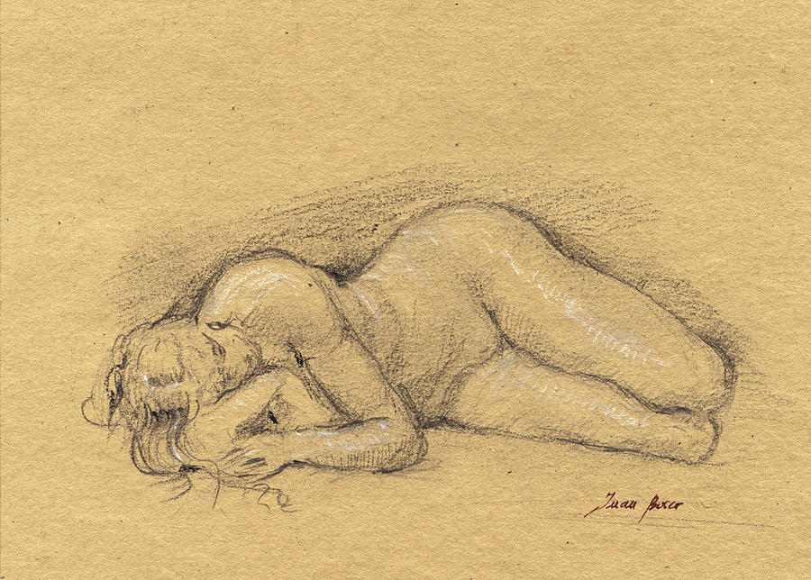 Classical Nude Painting - Female nude by Juan Bosco