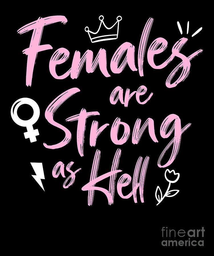 feminist print Strong as Hell strong woman print digital download Feminist art Feminist poster empowered women print female art
