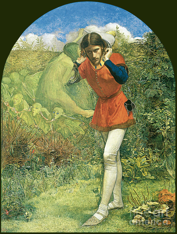 Ferdinand Lured By Ariel 1849 Painting