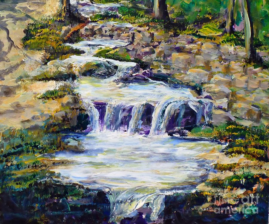 Los Angeles Painting - Fern Dell Creek Noon by Randy Sprout