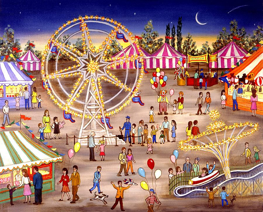 Ferris Wheel At The Carnival Painting