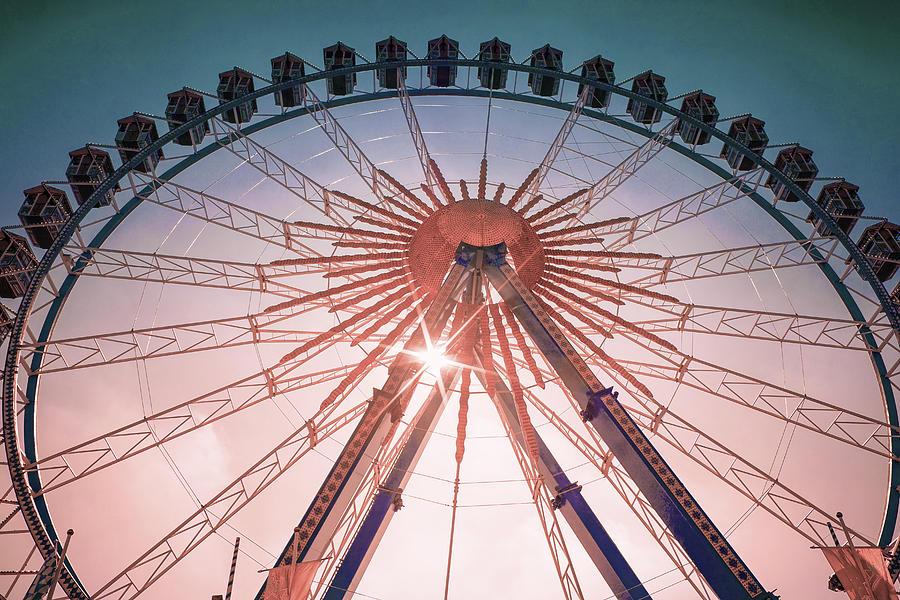 Ferris Wheel Bavaria Folk Festival - Surreal Art By Ahmet Asar Digital Art