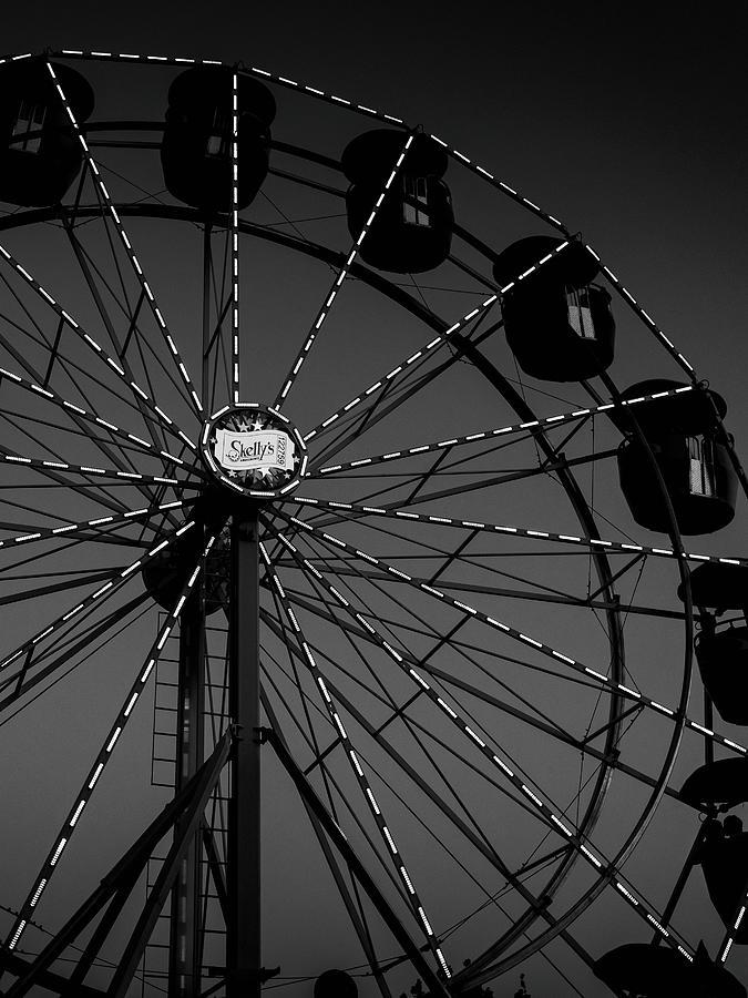 Ferris Wheel Noir Photograph