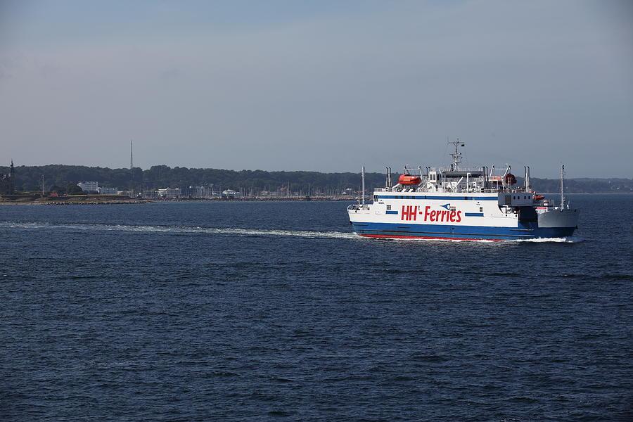 Ferry HH Ferries between Denmark and Sweden Photograph by Pejft