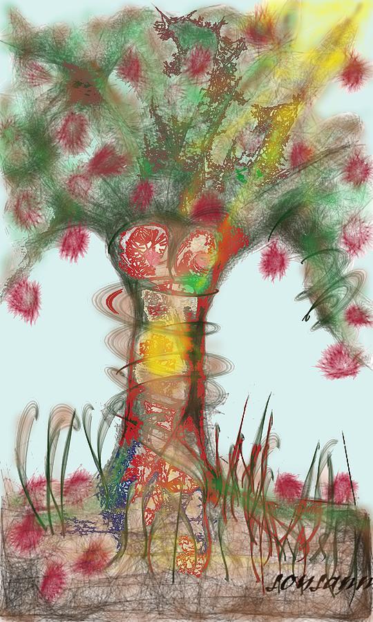 Tree Of Life Digital Art - Fertile Tree of Life by Suzy Valtsioti