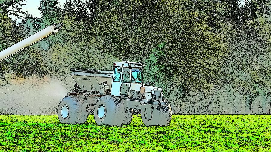 Fertilizer Equipment In Action Photograph