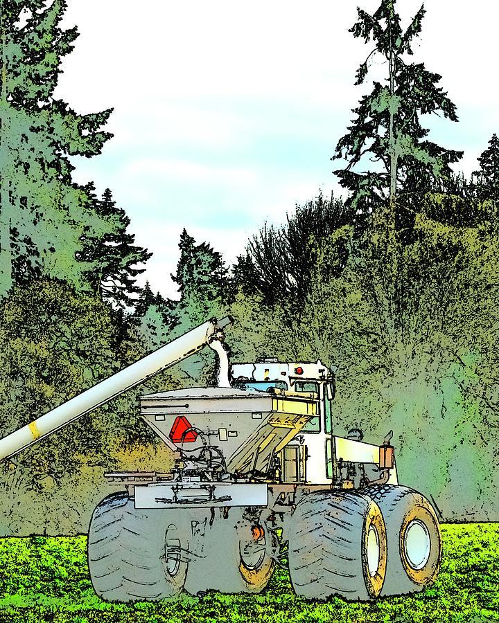 Fertilizer Spreader Filling Up Photograph