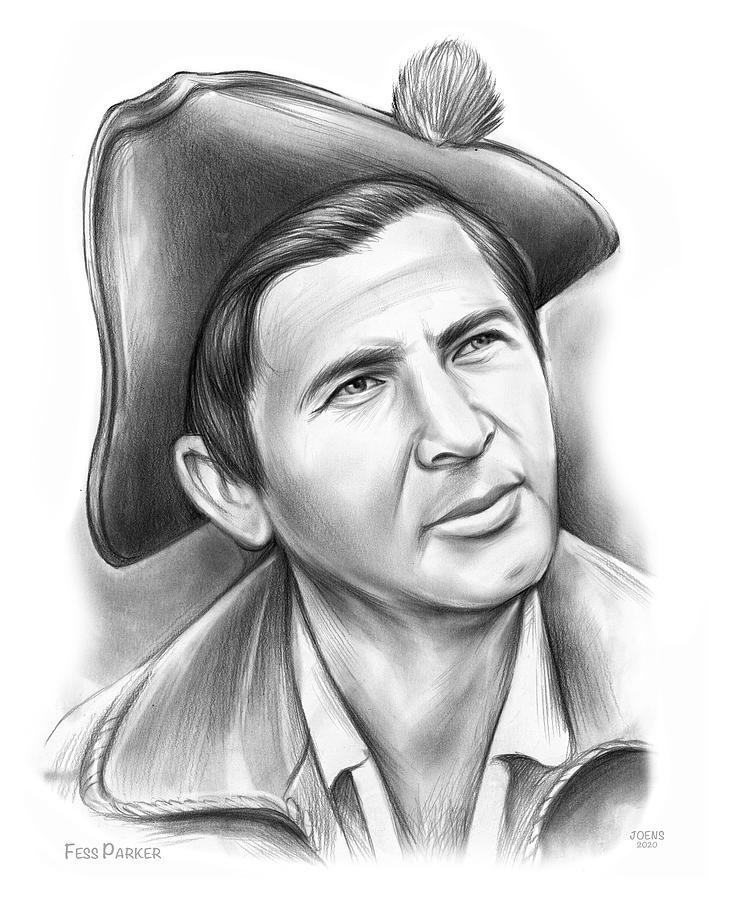 Fess Parker Patriot Drawing