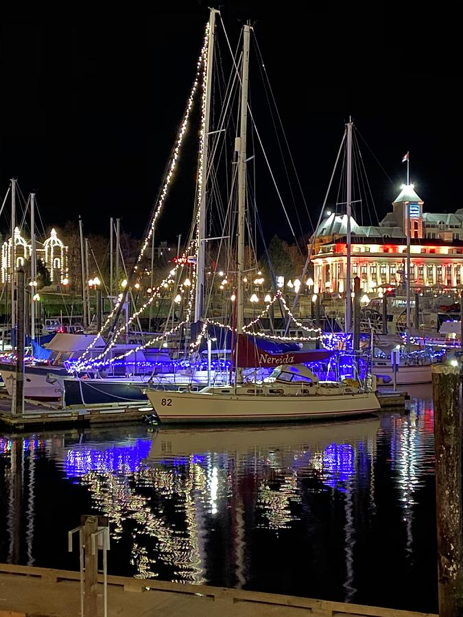 Festive Sailboat in Vic by Michael Oceanofwisdom Bidwell