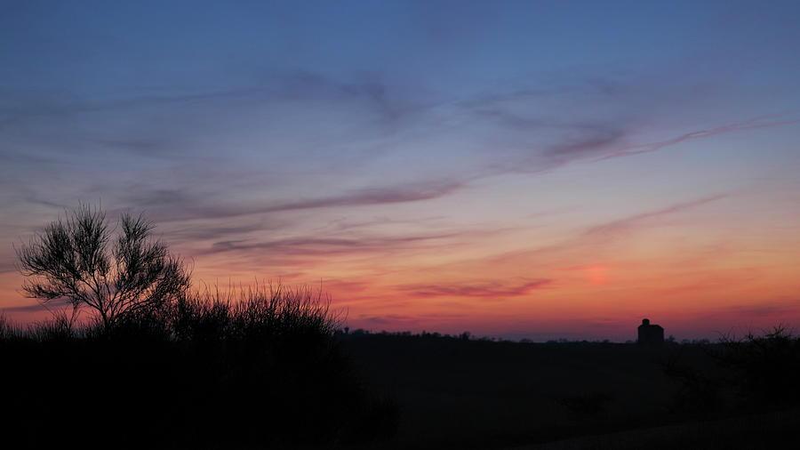 Landscape Photograph -  Fictitious Sun by Karine GADRE