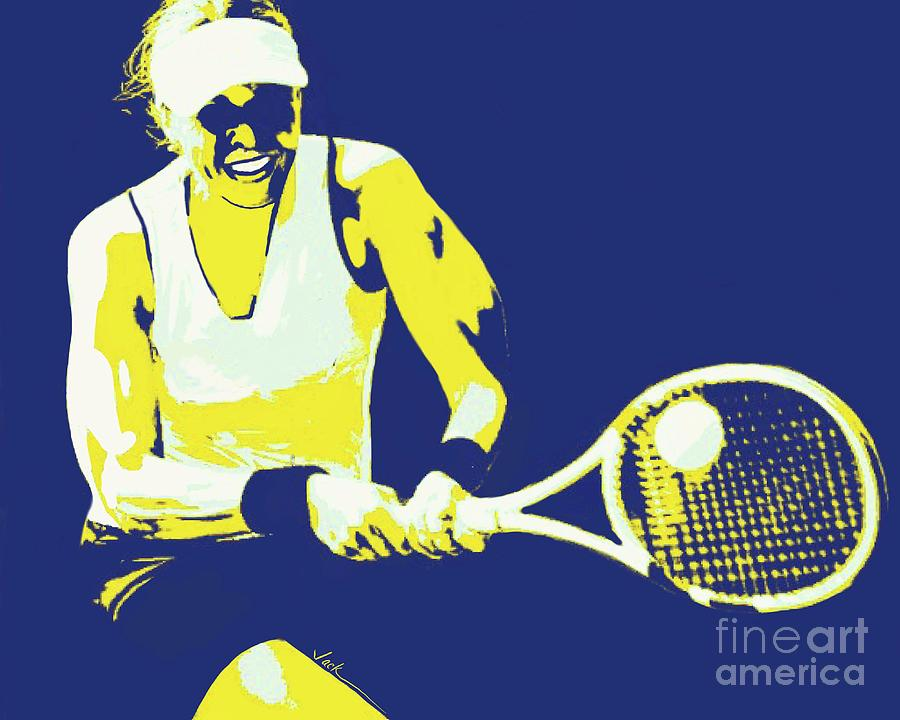 Tennis Painting - Fierce Backhand by Jack Bunds