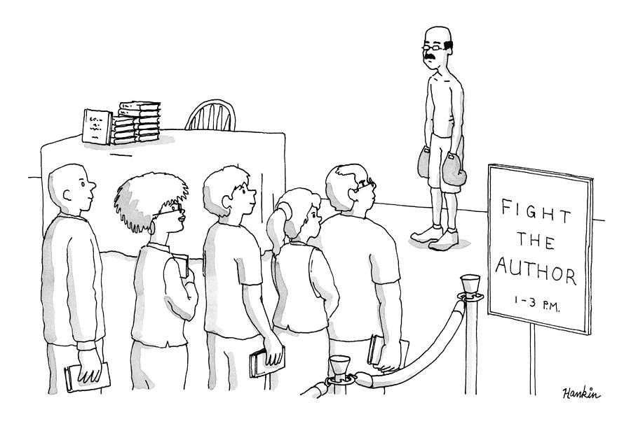 Fight The Author Drawing by Charlie Hankin