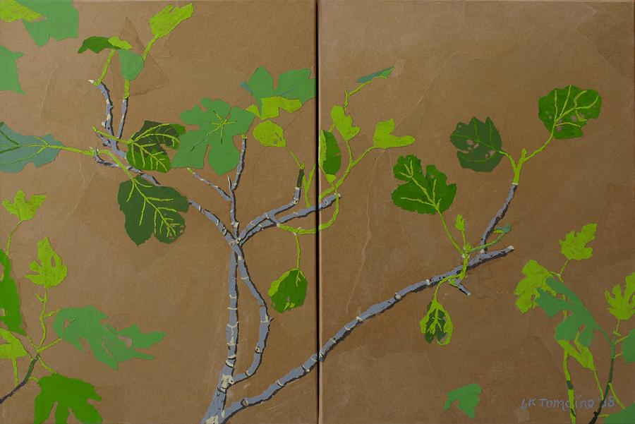 Collage Painting - Figless Figs by Leah  Tomaino