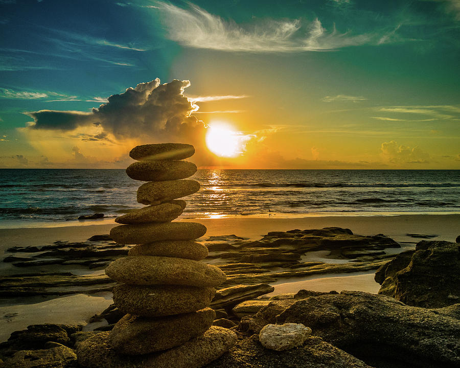 Cairn Photograph - Finding Balance in Life by Danny Mongosa