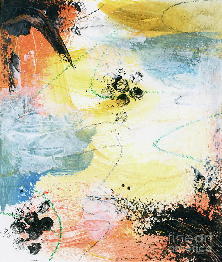 Abstract Expressionist Painting - Finding Bliss 1 Abstract Expressionist Painting by Itaya Lightbourne