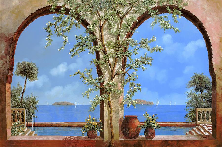 Fiori Bianchi Sulla Parete Painting