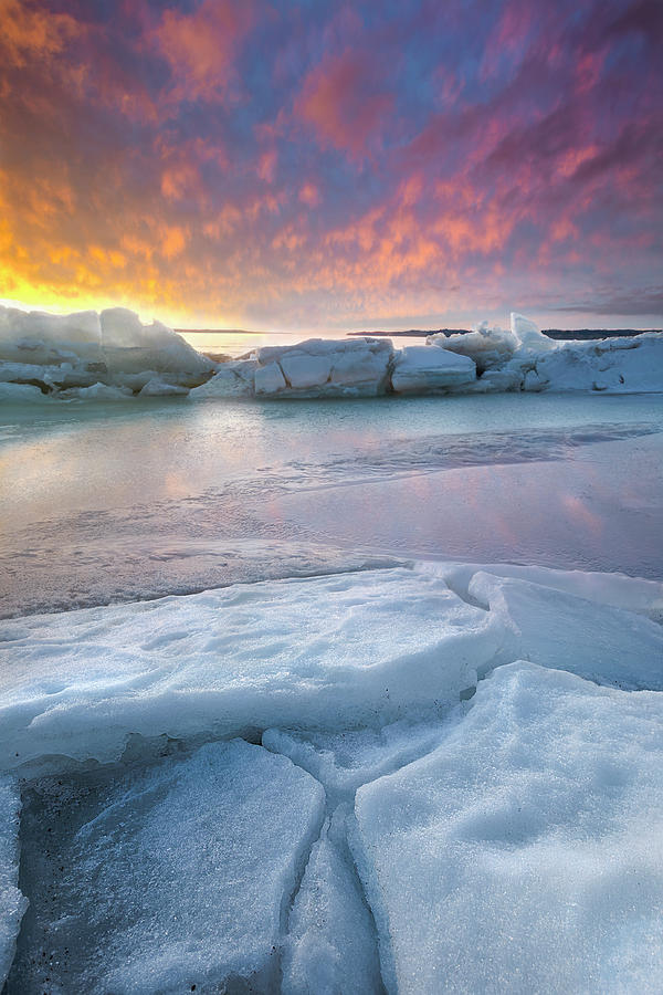 Missouri River Photograph - Fire And Ice  by Aaron J Groen