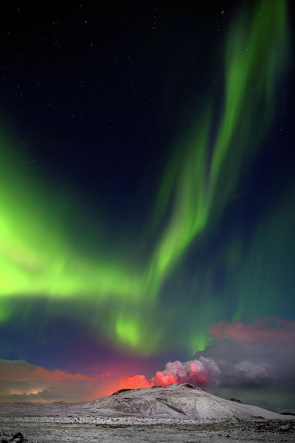 Iceland Photograph - Fire and light #1 by Christopher Mathews