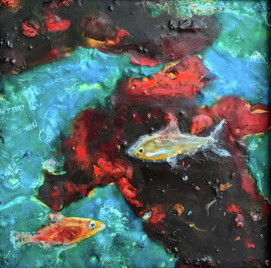 Fire And The Sea 12 Painting