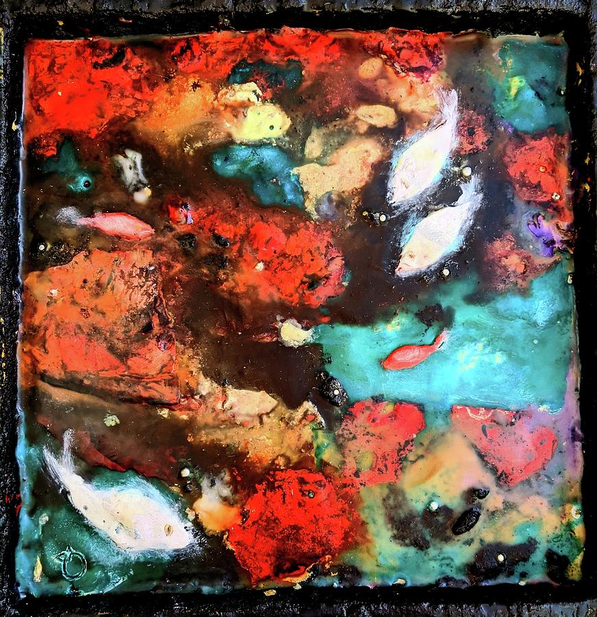 Fire And The Sea 5 Painting