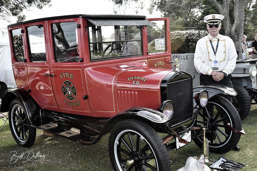 Ford Photograph - Fire Chief by Bill Dutting