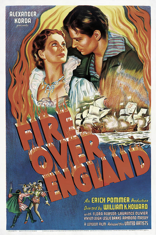 fire Over England, With Laurence Olivier And Vivien Leigh, 1937 Mixed Media