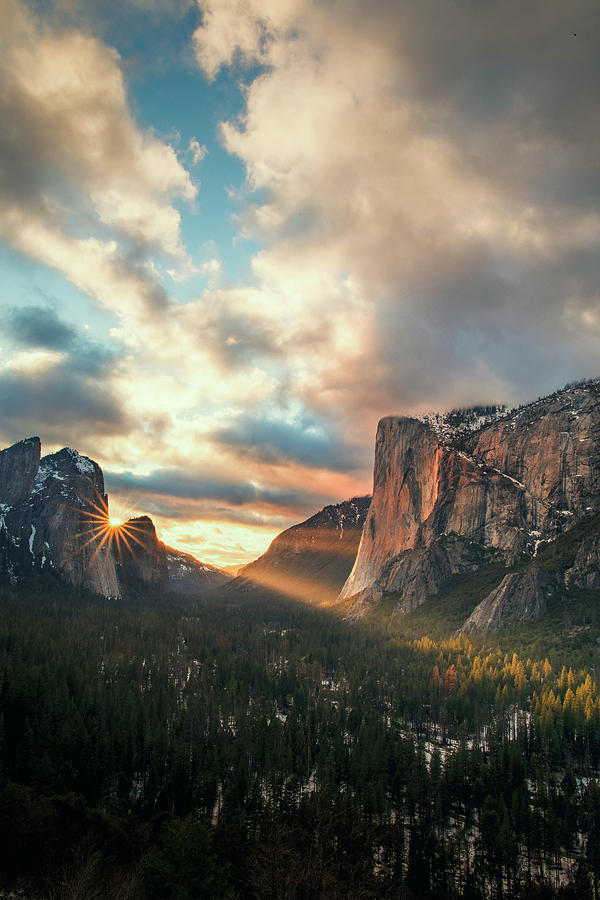 Firefall Drama - Yosemite Valley Photograph by Vincent James