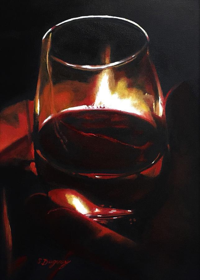 Fireside Rhapsody Painting