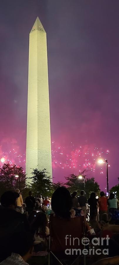 Fireworks At Washington Memorial Painting