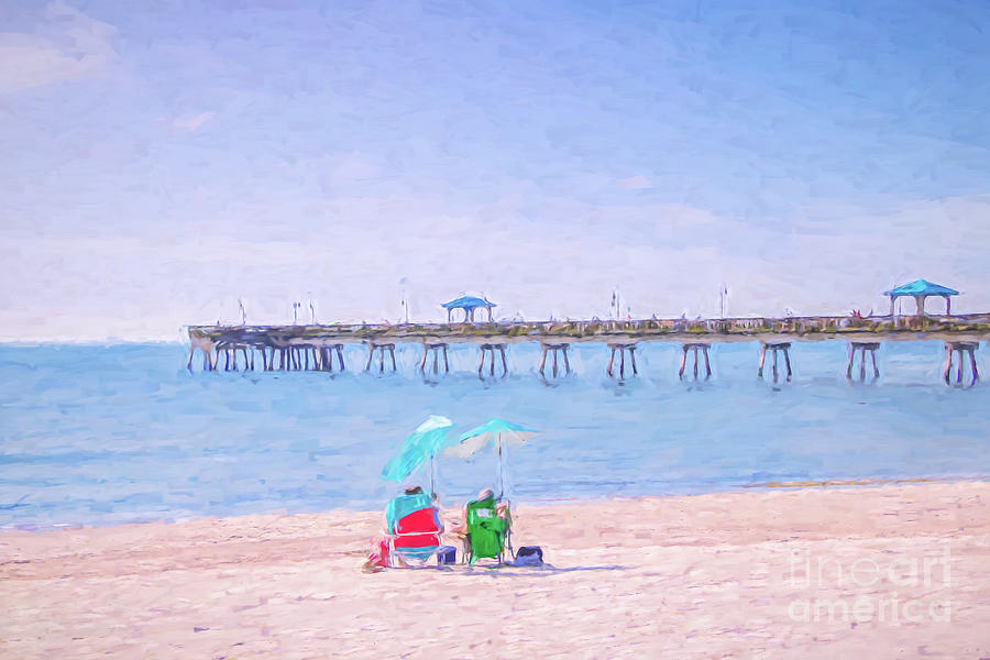 First At The Beach - Painterly Photograph