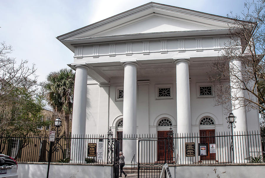 Architecture Photograph - First Baptist Church - Charleston by Norman Johnson