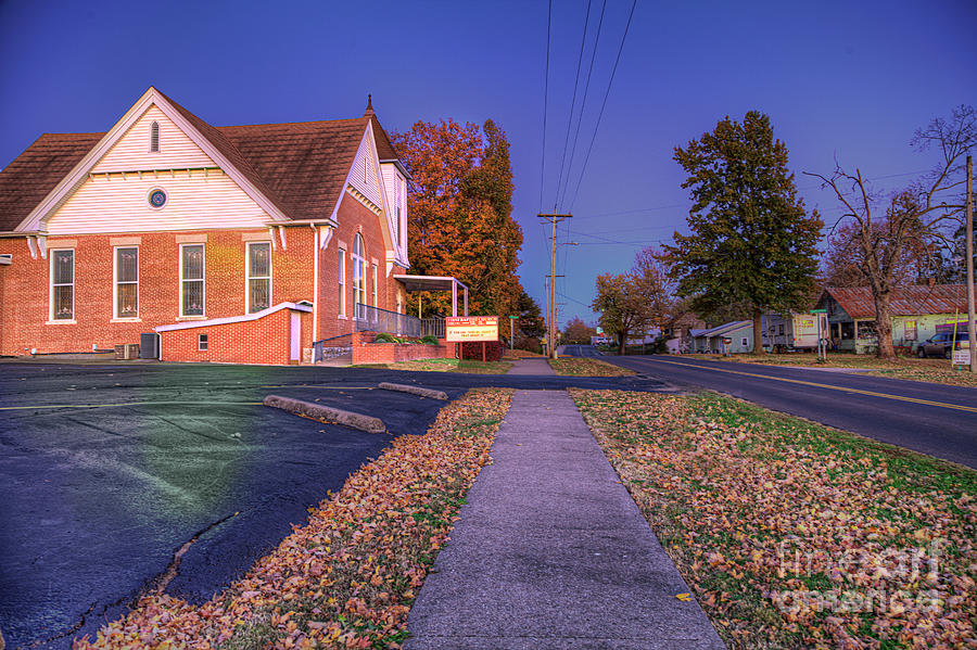 Driving Photograph - First Baptist Church Of Oak Ridge  by Larry Braun
