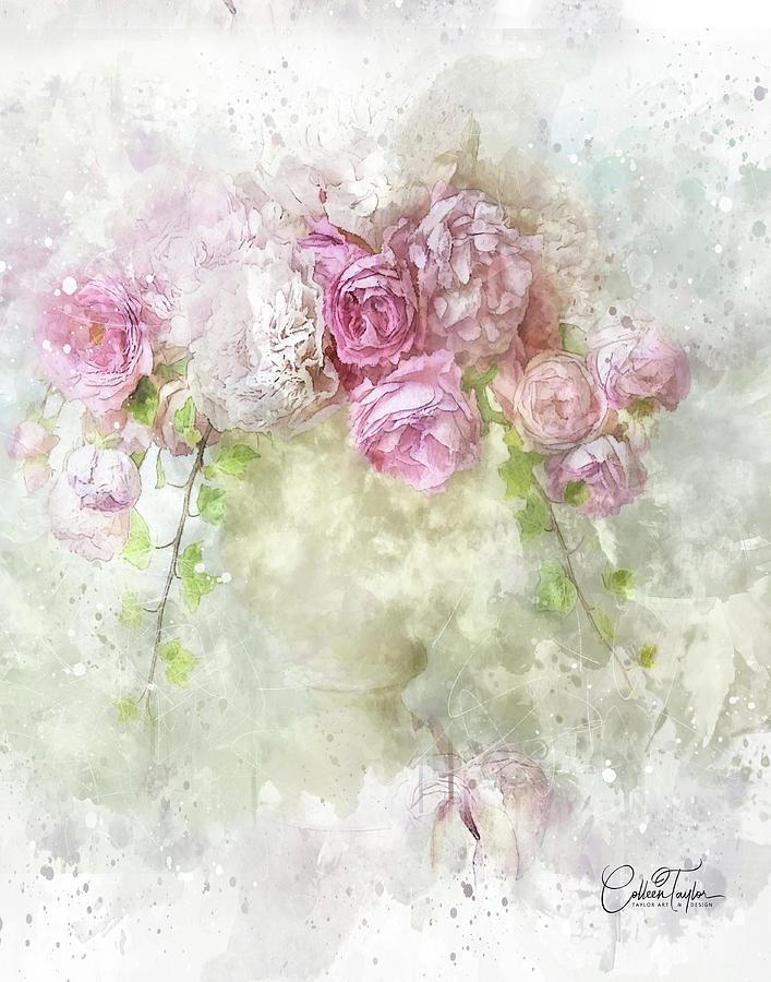 First Blush Bouquet Mixed Media