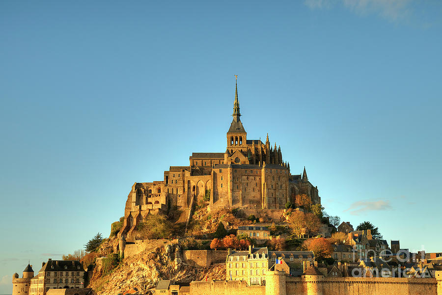 First Impressions Mont Saint Michel Normandy France by Wayne Moran