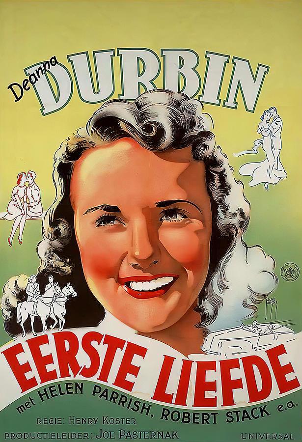 first Love, With Deanna Durbin, 1939 Mixed Media