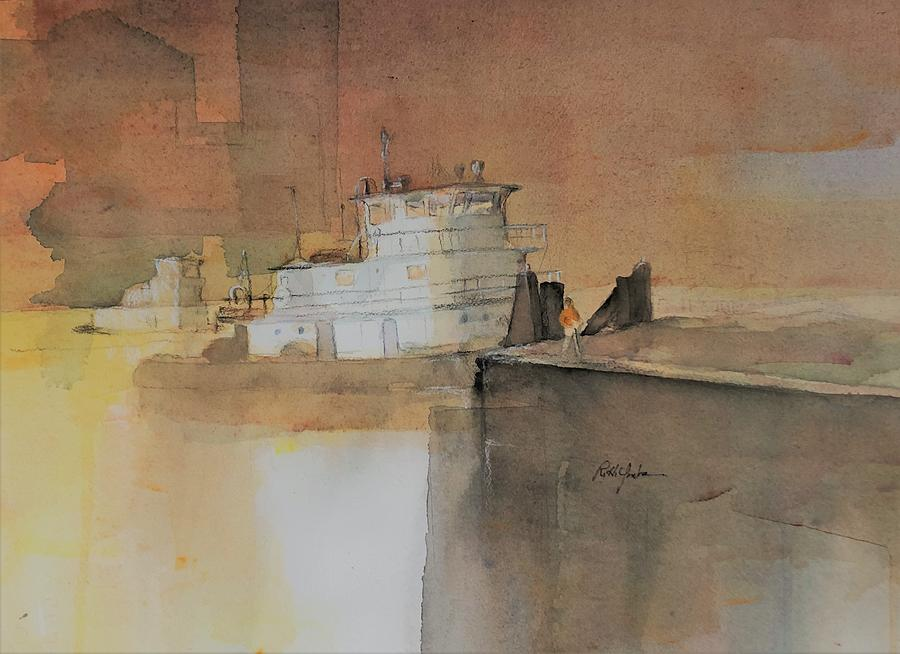 Waterways Painting - First Move by Robert Yonke