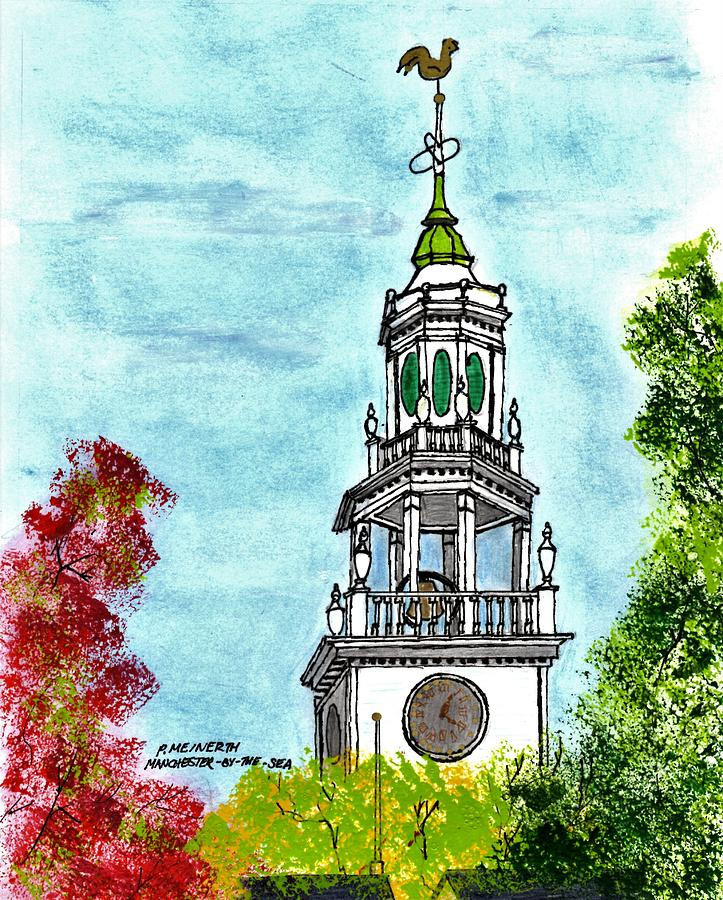 First Parish Church Drawing