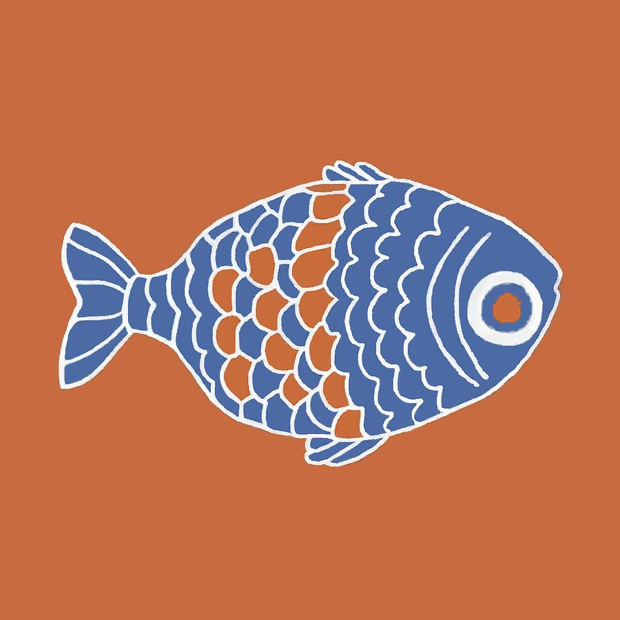 Fish In Orange Digital Art