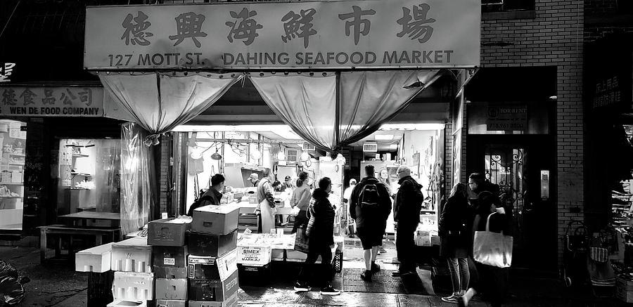 Seafood Market Mott Street Chinatown Nyc Photograph By Koon Wong