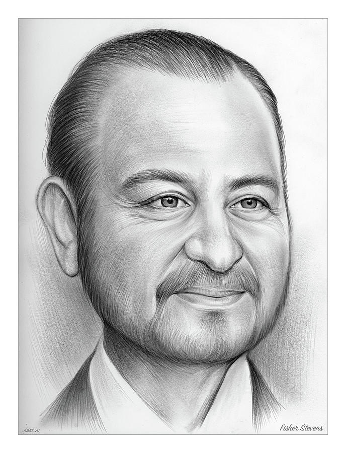 American Drawing - Fisher Stevens - Pencil by Greg Joens